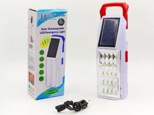 Фонарь аккум. светодиодный переносной (20led, солн. бат., аккум., USB вход, р-р 19,5х7см)