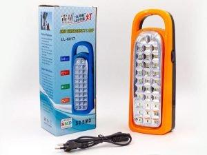 Фонарь аккумуляторный светодиод. (32 led лампы, на бат. (3C), аккум., р-р 25х9,5см)