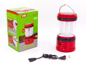 Фонарь кемпинговый светодиодный (4 лампы, бат-3AA, USB вход, аккум, солн.бат, р-р 15х8,5см)