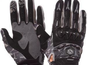 Мотоперчатки комбинированные с закрытыми пальцами SCOYCO (пр.-fiberglass, р-р M-XL, черный) - L