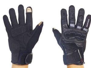 Мотоперчатки комбинированные с закрытыми пальцами и протектором SCOYCO (р-р M-L, черный) - Черный-L