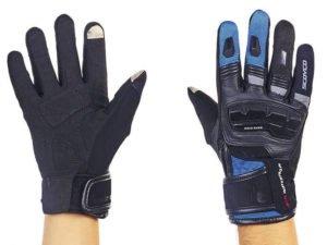 Мотоперчатки комбинированные с закрытыми пальцами и протектором SCOYCO (р-р M-L, чер-син) - L