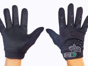 Мотоперчатки текстильные с закрытыми пальцами FOX (р-р M-L, черный)