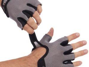 Перчатки для фитнеca VELO (PVC, PL, открытые пальцы, р-р S-XL, черный) - L