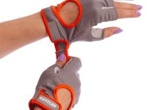 Перчатки для фитнеса KETTLER (PL,нейлон,открытые пальцы,р-р XL,сер-оранж)