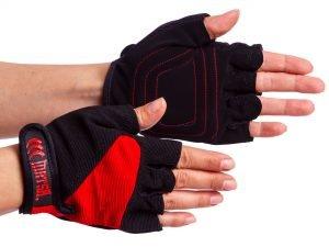 Перчатки для фитнеса MATSA (PVC, PL, открытые пальцы, р-р S-XL, цвета в ассортименте) - L