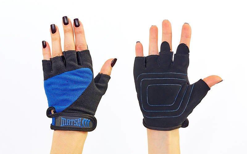 Перчатки для фитнеса MATSA (PVC, PL, открытые пальцы, р-р S-XL, цвета в ассортименте)