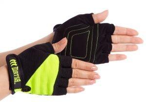 Перчатки для фитнеса MATSA (PVC, PL, открытые пальцы, р-р XS-L, цвета в ассортименте) - L