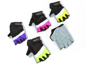 Перчатки для фитнеса женские Zelart (PVC, PL, откр. пал., р-р XS-M, розов, салат, фиолет, желт) - M