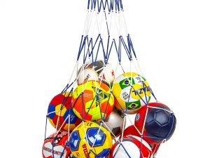 Сетка для мячей С-4563 (полипропилен, на 24 мяча, ячейка р-р 11×11см)