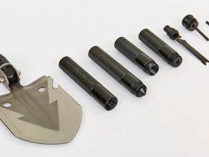 Лопата многофункциональная складная тактическая (нерж.,хром.сталь, l-74см,р-р 13х16,5см,черный)