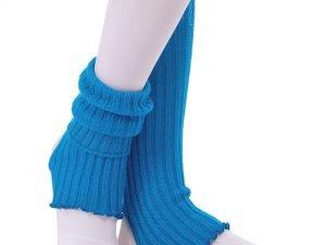 Гетры для танцев Zelart-72 (акрил, длина-40см, цвета в ассортименте) - Цвет Голубой