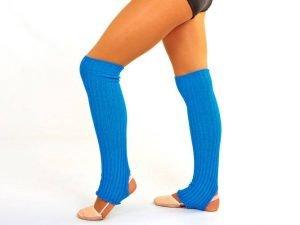 Гетры для танцев Zelart (акрил, длина-60см, цвета в ассортименте) - Цвет Голубой