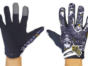 Мотоперчатки текстильные с закрытыми пальцами FOX (р-р M-XL, черный-белый) - L