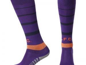 Гетры футбольные с символикой футбольного клуба LIVERPOOL AWAY 2019 (размер 27-34, фиолетовый)