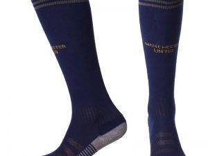 Гетры футбольные с символикой футбольного клуба MANCHESTER UNITED AWAY2 2019 (размер 27-34, т.синие)