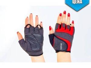Перчатки для фитнеса женские Zelart (PL,эластан, открытые пальцы, р-р XXS-M, черный-красный) - M