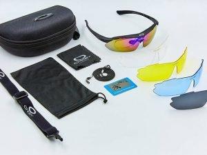 Очки тактические Oakley с поляризацией и сменными линзами (пластик, акрил, 4 сменные линзы, polirazed)