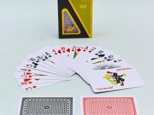 Игральные карты пластиковые LUCKY GOLD (колода в 54 листа, толщина-0,4мм)