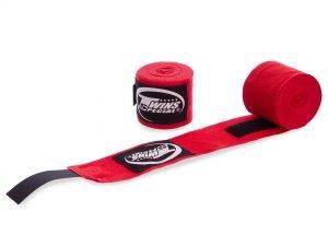 Бинты боксерские (2шт) хлопок TWINS (l-5м, цвета в ассортименте) - Цвет Красный