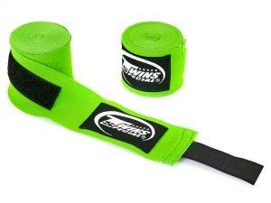 Бинты боксерские (2шт) хлопок с эластаном TWINS (l-5м, цвета в ассортименте) - Цвет Зеленый