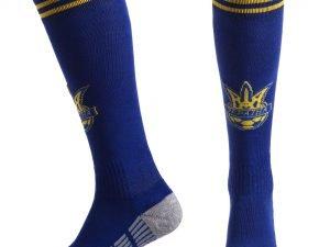 Гетры футбольные с символикой сборной Украины UKRAINE (терилен, размер 27-34, синий-желтый)