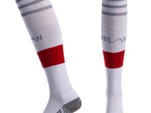 Гетры футбольные с символикой футбольного клуба AC MILAN HOME (размер 32-43, белый) - 39-43