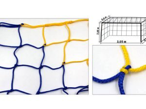 Сетка на ворота футзальные, гандбольные профессиональная (2шт) Элит UR (PP 4,5мм, яч. 12см)