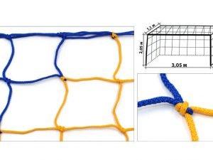 Сетка на ворота футзальные, гандбольные тренировочная (2шт) Стандарт1.1 UR (PP3,5мм, 12см)