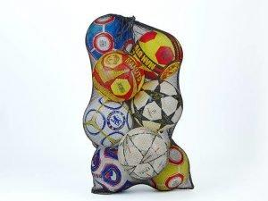 Сетка-сумка для мячей (полиэстер сетка, на 12 мячей, р-р 96х70см, черный)