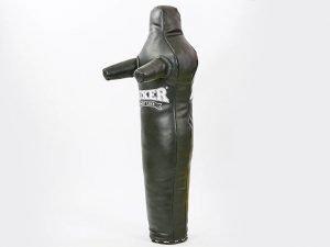 Манекен тренировочный для единоборств BOXER (кожа, наполнитель-ветошь х-б, высота 120см, цвета в ассортименте) - Цвет Черный