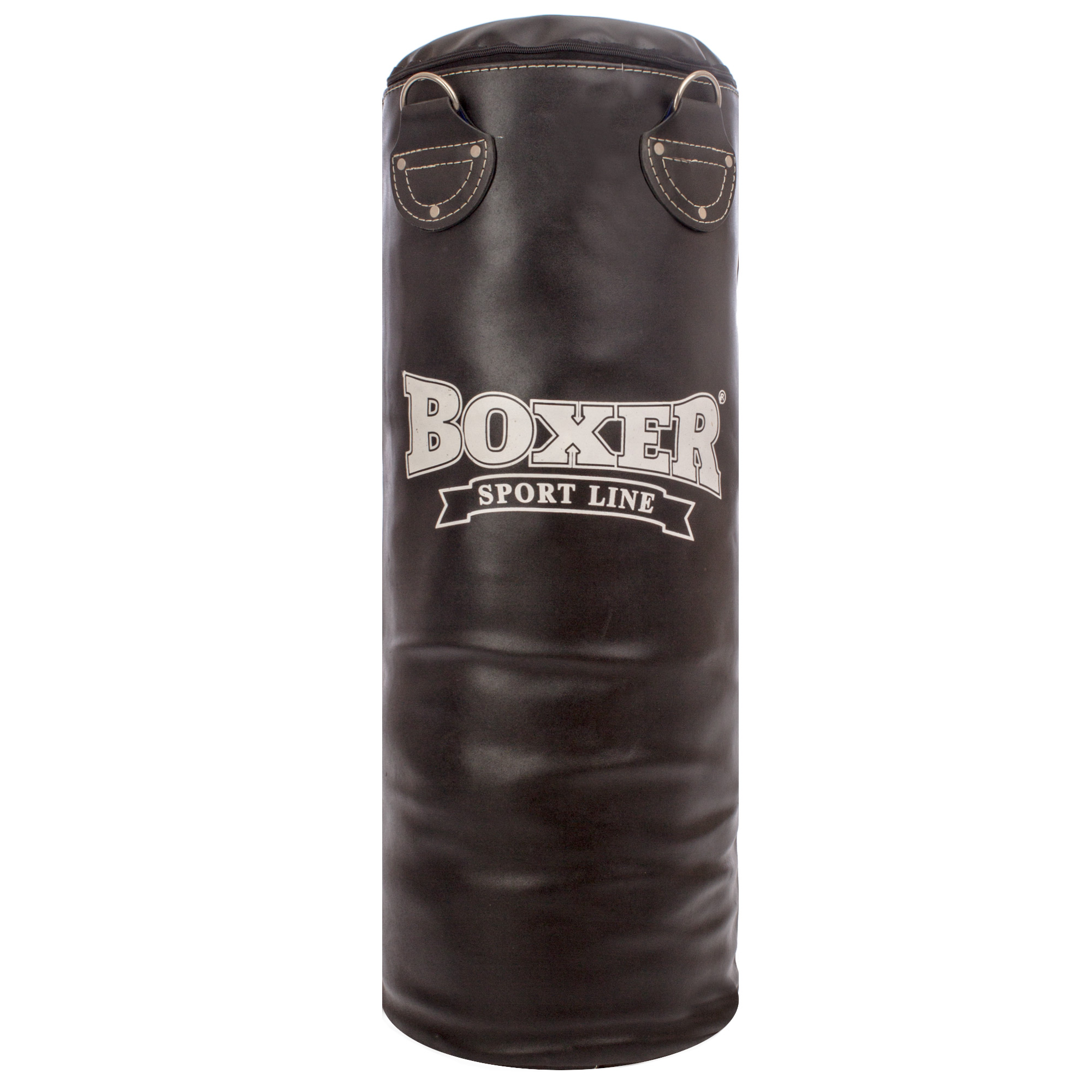 Мешок боксерский Цилиндр Кожа h-80см BOXER Классик (наполнитель-ветошь х-б, d-28см, вес-19кг)