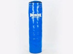 Мешок боксерский Цилиндр ПВХ h-120см BOXER Классик (наполнитель-ветошь х-б, d-33см, вес-31кг, цвета в ассортименте) - Цвет Синий