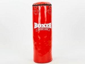 Мешок боксерский Цилиндр ПВХ h-80см BOXER Классик (наполнитель-ветошь х-б, d-28см, вес-19кг, цвета в ассортименте) - Цвет Красный