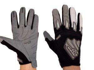 Мотоперчатки текстильные с закрытыми пальцами SCOYCO (р-р M-XXL, цвета в ассортименте) - Черный-XXL