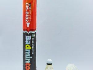 Воланы для бадминтона перьевые CIMA (12шт) в тубе (белый)