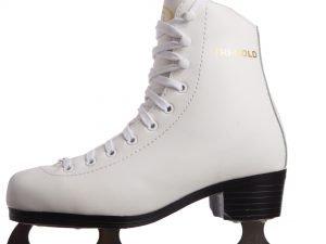 Коньки фигурные белые PVC (р-р 36, лезвие-сталь)