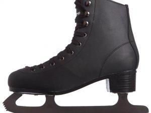 Коньки фигурные черные PVC (р-р 37-44, лезвие-сталь) - 37