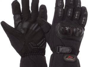 Мотоперчатки теплые текстильные с закрытыми пальцами и протектором MADBIKE (р-р L-2XL, цвета в ассортименте) - Черный-XXL