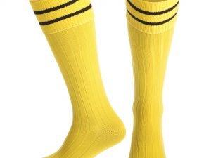 Гетры футбольные мужские (нейлон, размер 40-45, цвета в ассортименте) - Цвет Желтый