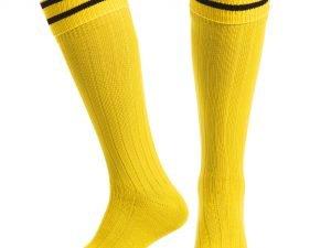 Гетры футбольные мужские (хлопок, нейлон, размер 40-45, цвета в ассортименте) - Цвет Желтый