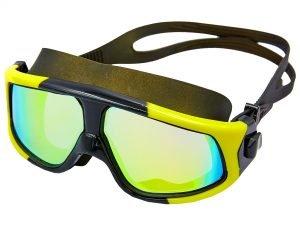 Очки-полумаска для плавания SPDO (поликарбонат, TPR, силикон, цвета в ассортименте) Replika - Цвет Желтый-черный