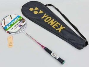 Ракетка для бадминтона 1штука в чехле YONEX (сталь, цвета в ассортименте) Replica