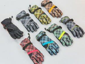 Перчатки горнолыжные теплые женские (р-р M-L, L-XL, цвета в ассортименте, уп.-12пар, цена за 1пару)