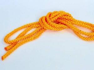 Скакалка для художественной гимнастики 3м Lingo (полиэстер, l-3м, d-9мм, цвета в ассортименте) - Цвет Желтый