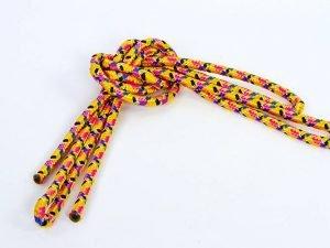 Скакалка для художественной гимнастики 3м Lingo Радуга (полиэстер, l- 3м, d-9мм, цвета в ассортименте) - Цвет Желтый