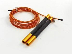 Скакалка профессиональная со стальным тросом скоростная с подшип. (l-3м, d-2,6мм, цвета в ассортименте) - Цвет Золото