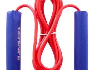 Скакалка с PVC жгутом KEPAI (l-2,8м, d-5мм, мягкие ручки EVA, цвета в ассортименте)