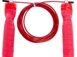 Скакалка скоростная Кроссфит с подшипником и стальным тросом (l-3м, d-2,6мм, цвета в ассортименте) - Цвет Красный