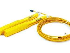 Скакалка скоростная Кроссфит с подшипником и стальным тросом с алюм. ручками (l-2,75м,d-3мм) - Цвет Желтый
